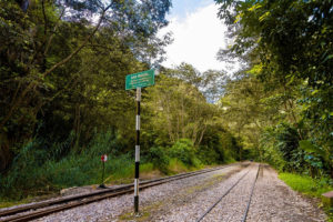 Camino Inca riel del tren