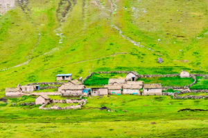 Casas incas en la Montaña de Colores
