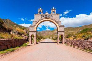 Entrada a Chivay en Arequipa