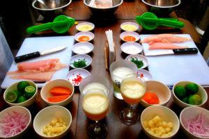 Ingredientes del ceviche