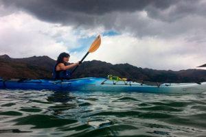 Kayak en la Laguna de Piuray, Chinchero, Cusco, Peru