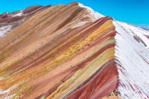 Montaña de Colores nieve peculiar