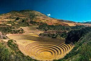Moray terrazas de cultivo andina
