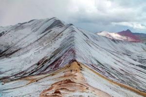 Nevada en la Montaña de Colores