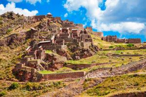 Ruinas y Torreones en Pisac, Valle Sagrado de los Incas