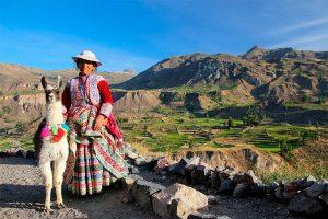 Pobladora de Chivay Arequipa